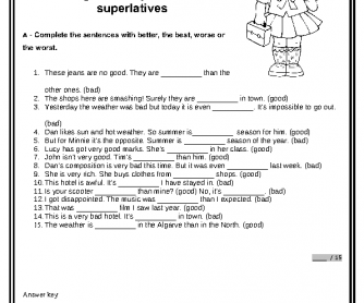 spanish articles worksheet