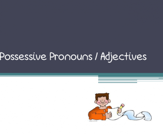 Possessive Pronouns/Adjectives