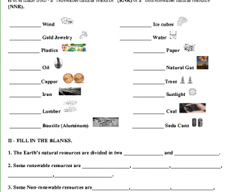 Printables Renewable And Nonrenewable Resources Worksheets and non renewable resources quiz quiz
