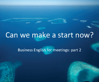 Business English for Meeting - Part 2