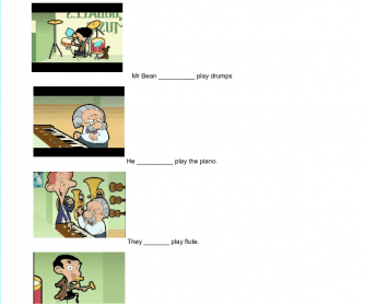 Movie Worksheet: Mr Bean the Capers
