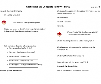 Charlie and the Сhocolate Factory - Book Club (Worksheet 1)
