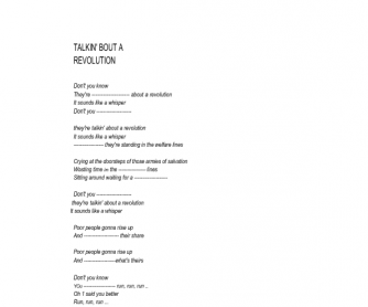 Song Worksheet: Talking about a Revolution (Cloze and Debate Material)