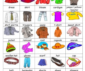 Clothes (Vocabulary)