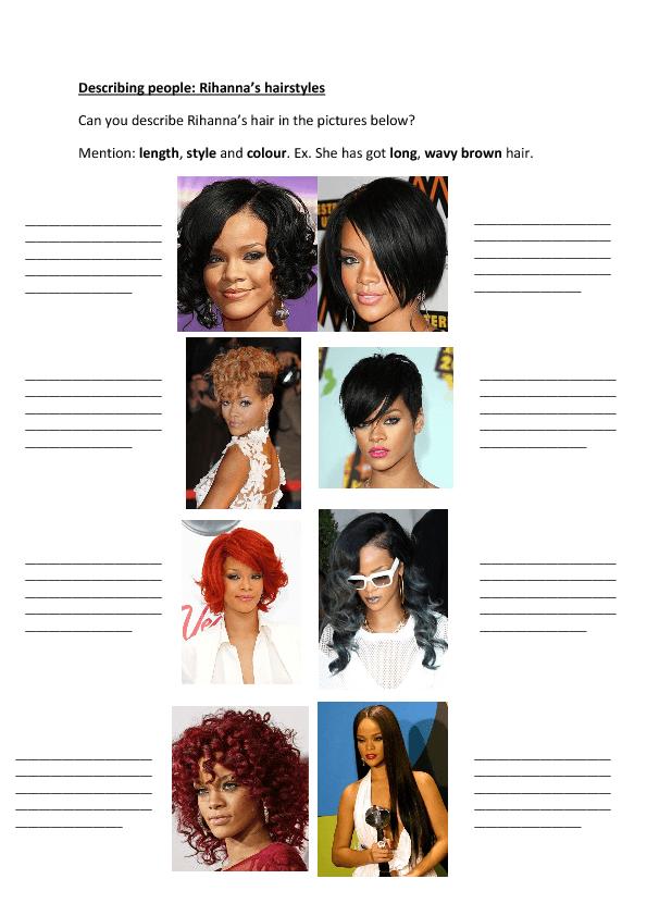 Describing People 39 S Hair
