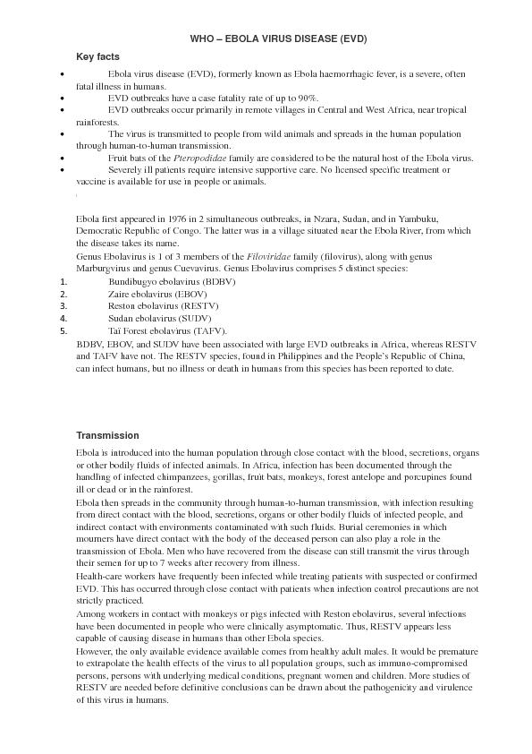 Virus Disease – Virus Worksheet
