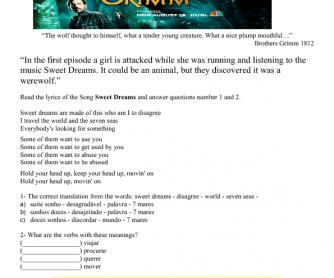 Movie Worksheet: Grimm