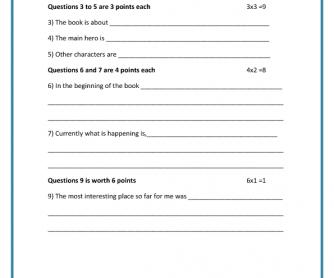 Extensive Reading – Quiz 1