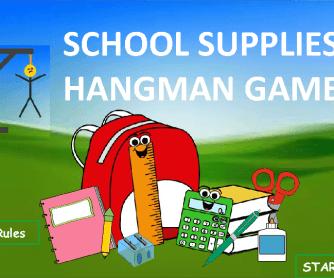 School Supplies Hangman