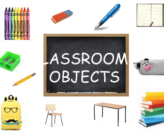 Classroom Objects - Flashcards