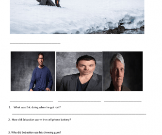 "Movie Worksheet: Bear Grylls [TV Series ""Escape from Hell""]"