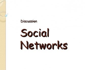 Social Networks Worksheet