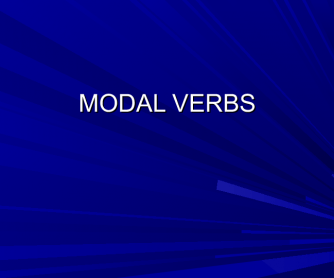 Modal Verbs - an Introductory Lesson (B1, B2)