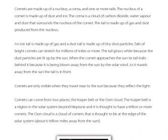 Comet - Reading Comprehension