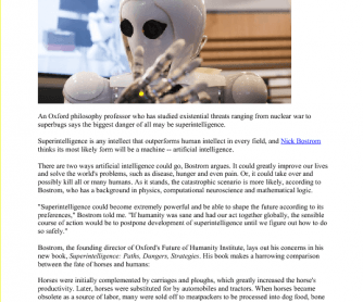 Reading: Artificial Intelligence (Article)