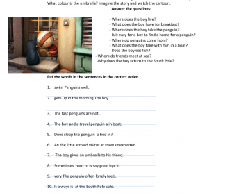 Movie Worksheet: Lost and Found