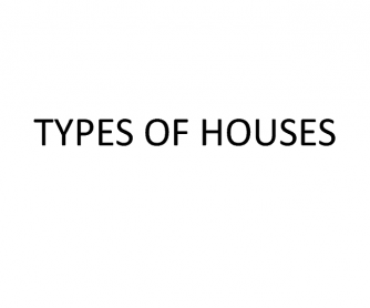 Types of Houses Presentation