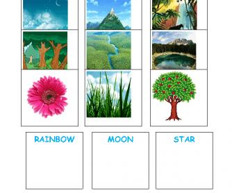 Nature Beginners Worksheet