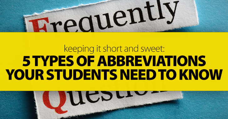 5 Types of Abbreviations Your Students Need to Know (And Why They Aren't Acronyms)
