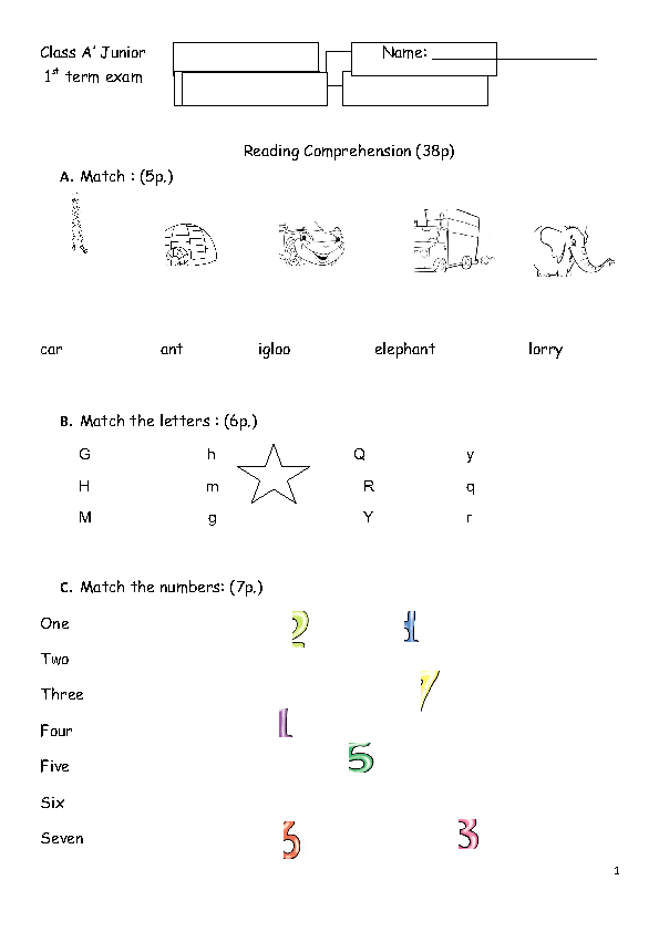 HD wallpapers free worksheets for grade 1 maths