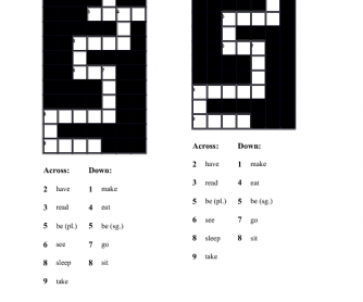 Past Simple - Irregular Verbs - Crossword