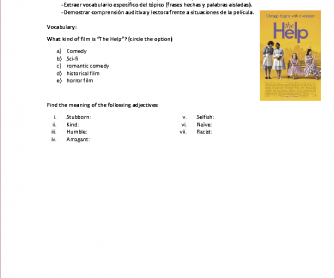 Movie Worksheet: The Help