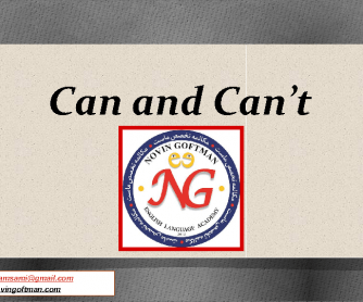 Can and Can't PowerPoint