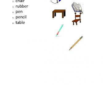 Classroom Object Match