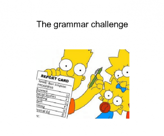 The Grammar Challenge
