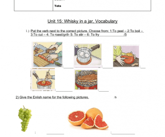 Vocabulary Test- Food and Drinks
