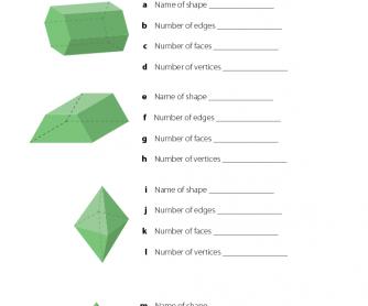 3D Shapes - Maths Resource