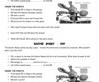 Movie Worksheet: Hop (Trailer)