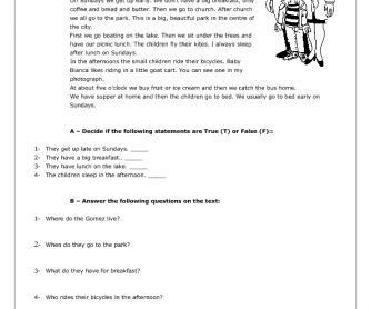 Daily Routines and Present Simple Worksheet