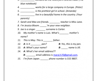 Personal pronouns esl song to learn
