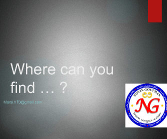 Where Can You Find?
