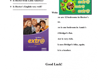 Movie Worksheet: Extr@, Episode 1