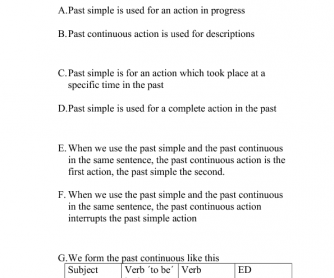 Past Simple vs Past Continuous Quiz