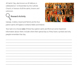 All Saints' Day - Research Activity