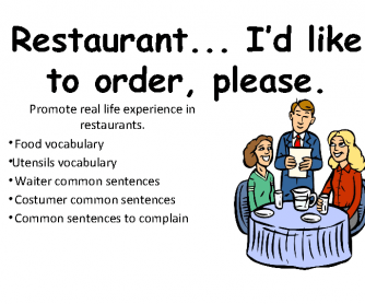 Restaurant Vocabulary