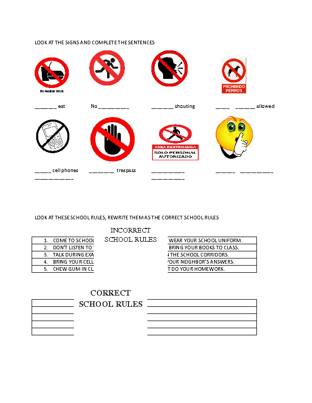 Bathroom signs for classroom - 15 Free Signs And Notices Worksheets