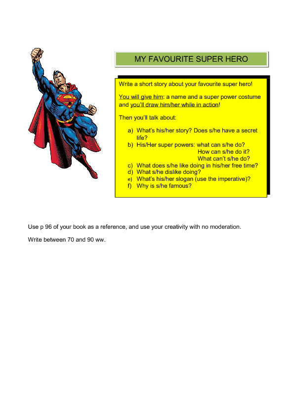 My favourite superhero essay