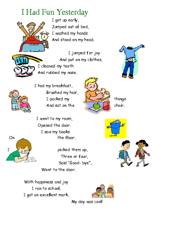my daily routine past tense Daily routine text - download as word  my daily routine uploaded by adrian969 teste de inglês - present simple  past tense chart speaking activity.