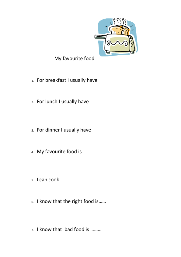 Essay my favourite food