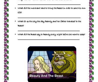 Movie Worksheet: Beauty and the Beast