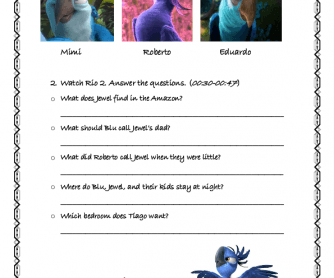 Movie Worksheet: Rio 2 (2)