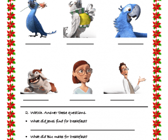 Movie Worksheet: Rio 2 (15 mins)