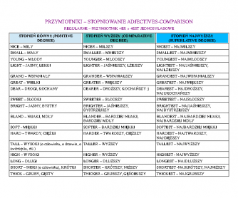 Adjectives for Polish Teachers