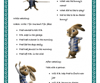 Movie Worksheet: Hop Part 2