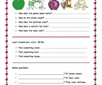 Five Senses, Worksheet