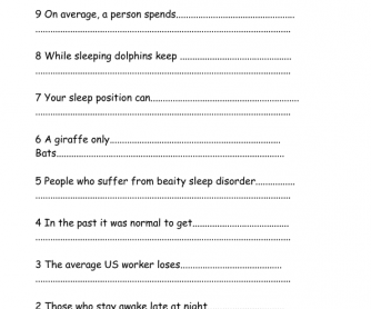 Movie Worksheet: 10 Facts about Sleep You Didn't Know